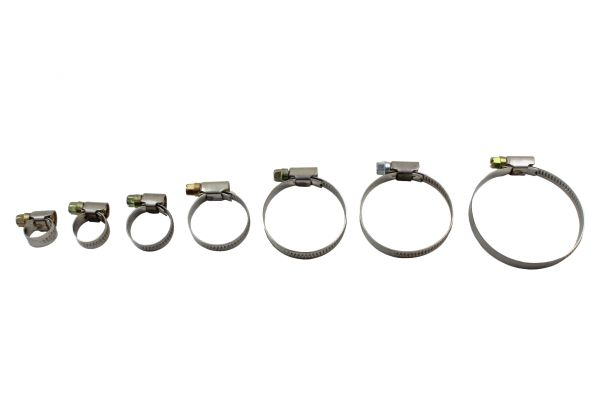 70 ASSORTED HOSE CLAMPS 8 - 60MM
