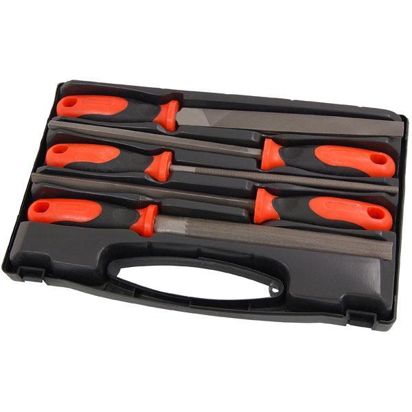 File Set - 5pc 8in. Steel In Plastic Box