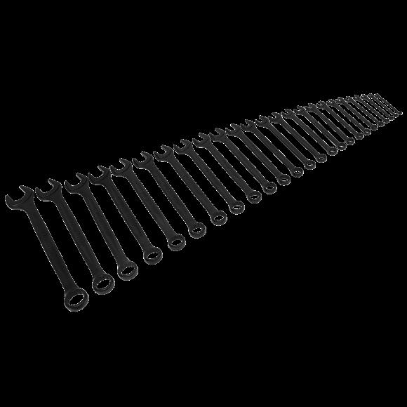 Sealey Combination Spanner Set 25pc Metric - Black Series