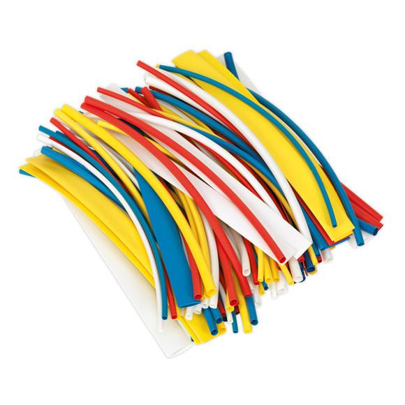 100pc 200mm Heat Shrink Tubing - Mixed Colours