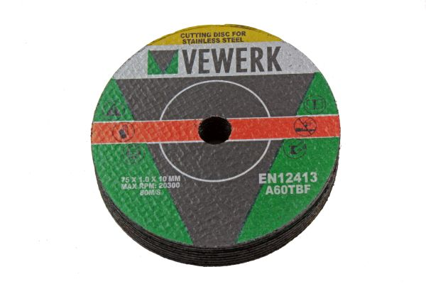 METAL CUTTING DISCS - 75 X 1.0 X 9.5MM