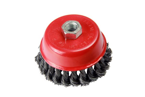 100MM WIRE CUP BRUSH - STEEL TWIST KNOT