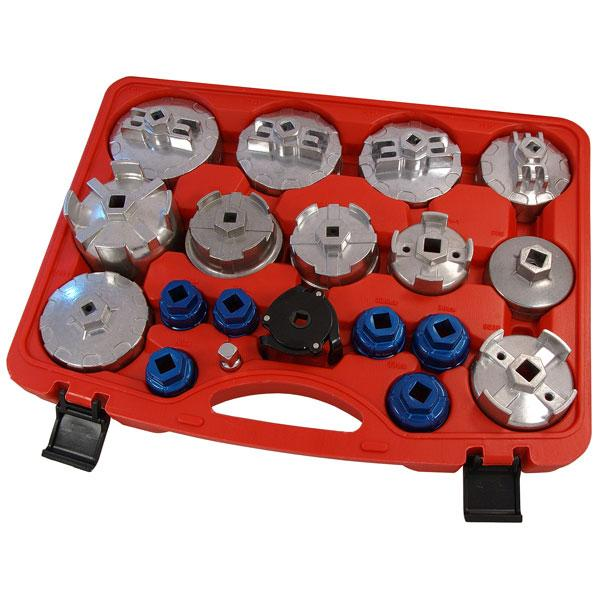 19pcs Oil Filter Cap Wrench Set - For Cartridge Type Filter