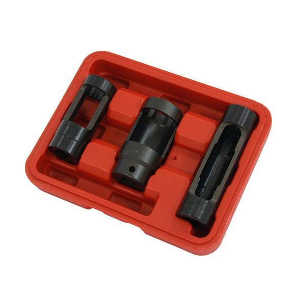 3pc Diesel Oxygen Sensor Socket Set