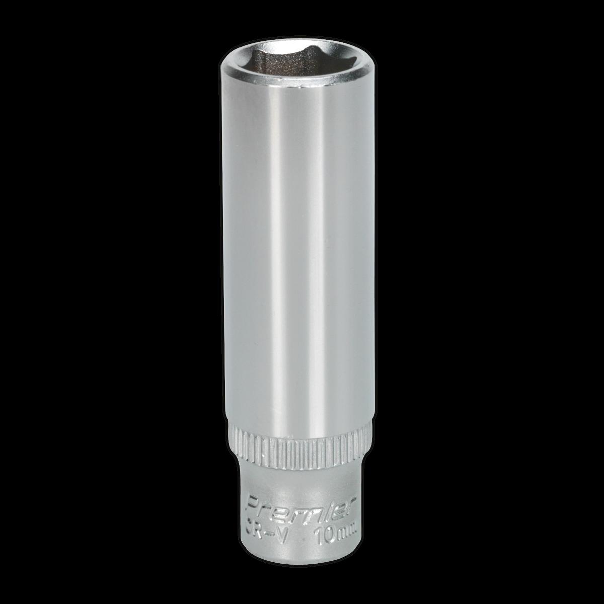 """WallDrive® Socket 10mm Deep 1/4""""Sq Drive"""