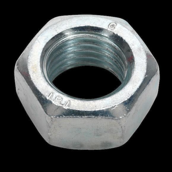 Steel Nut M20 Zinc DIN 934 Pack of 10