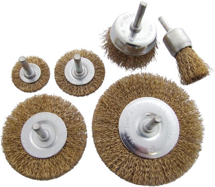 6pc Wire Wheel Brush Set
