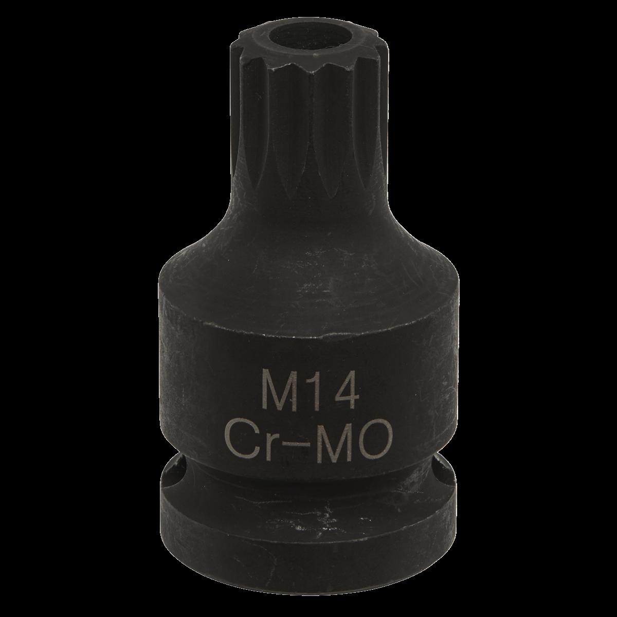 "Brake Caliper Spline Bit Socket M14 1/2""Sq Drive"