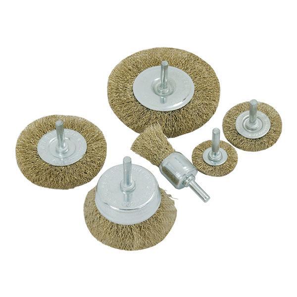 6pcs Wire Wheel Brush Set