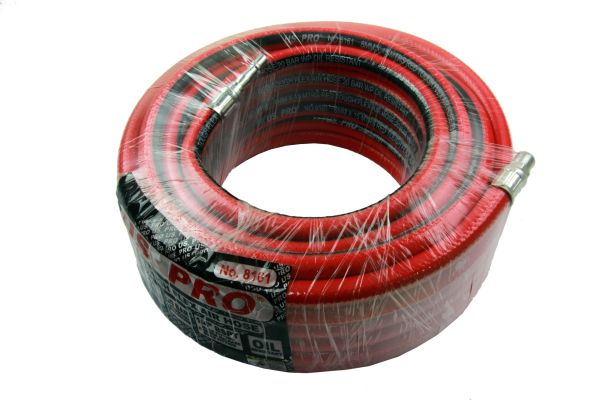 8MM X 15 MTRS RED TOUGH FLEX AIR HOSE 20 BAR OIL RESIST