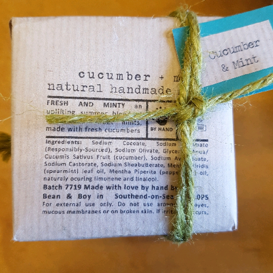 Cucumber and Mint soap 110g