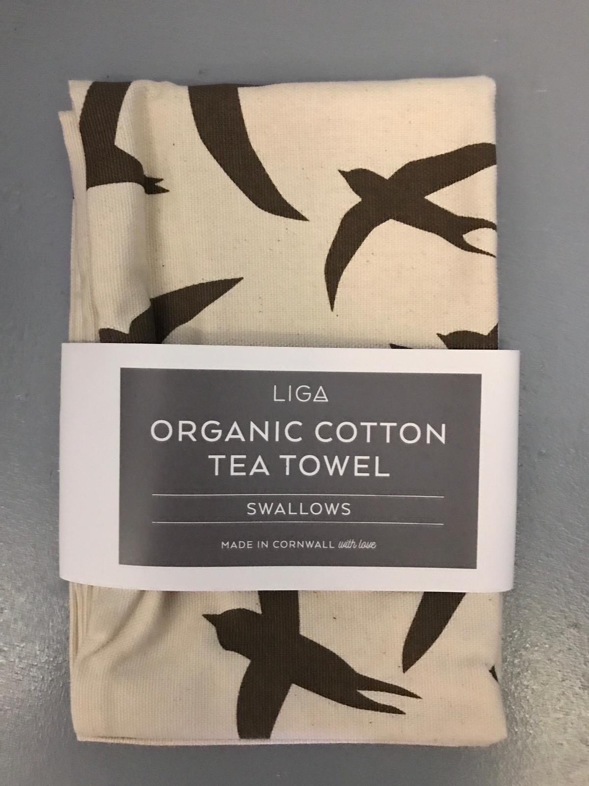 LIGA swallows tea towel