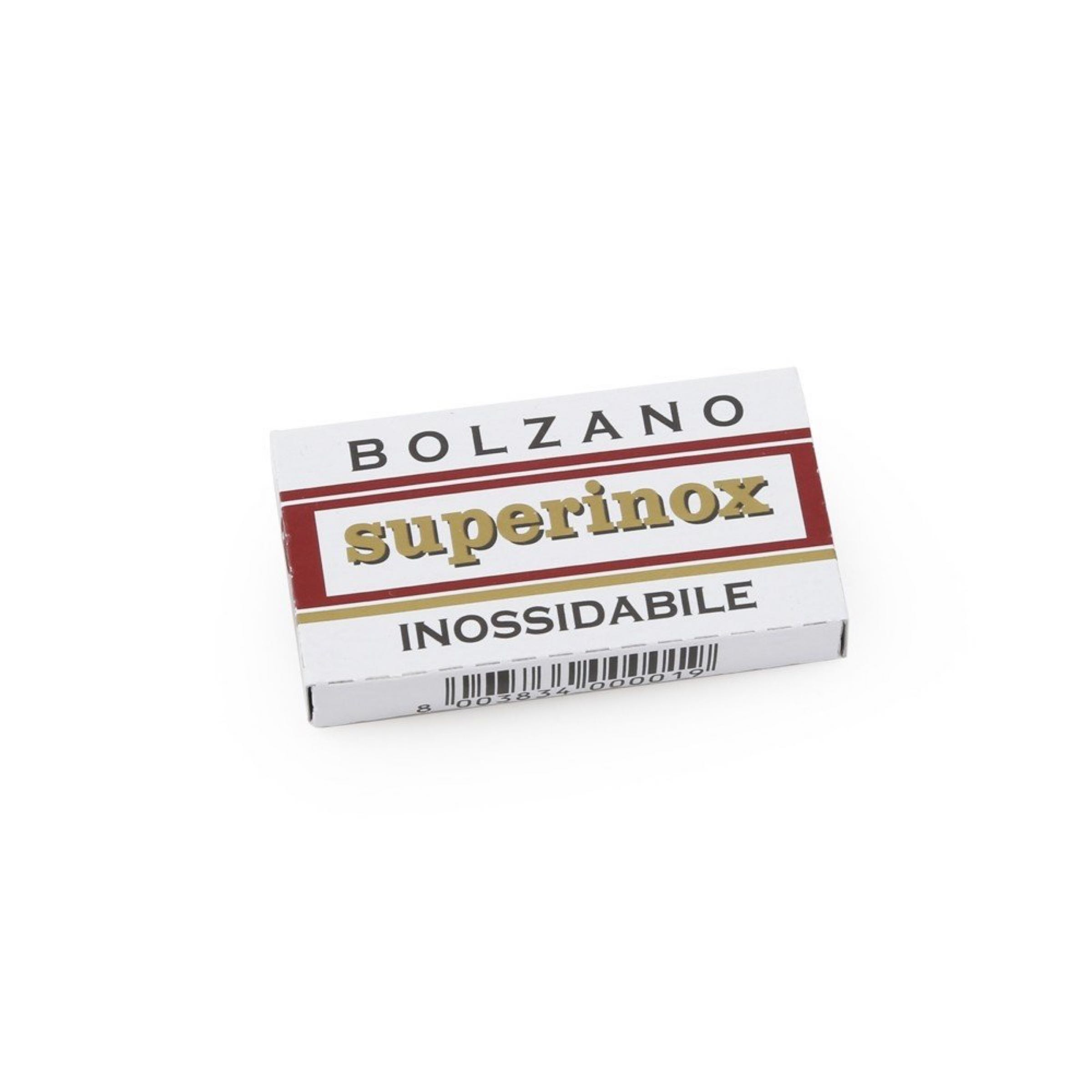 Bolzano Superinox Stainless Steel Double Edge Razor Blades Pack of 5