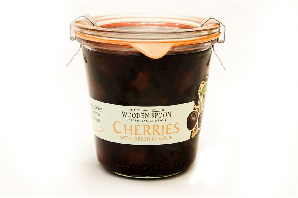 Wooden Spoon Cherries with Kirsch in syrup