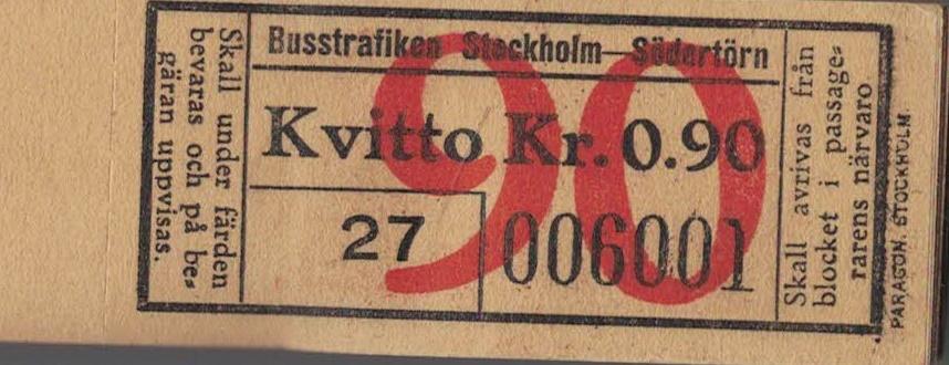 Billetter Stockholm