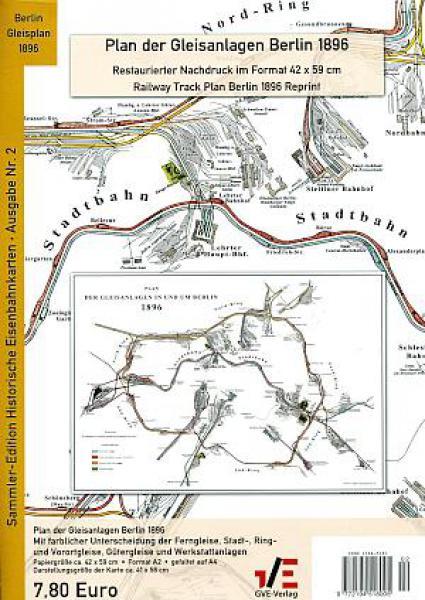 Plan der Gleisanlagen Berlin 1896