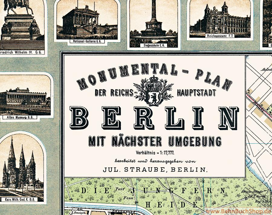 Berlin 1896 Monumental Plan