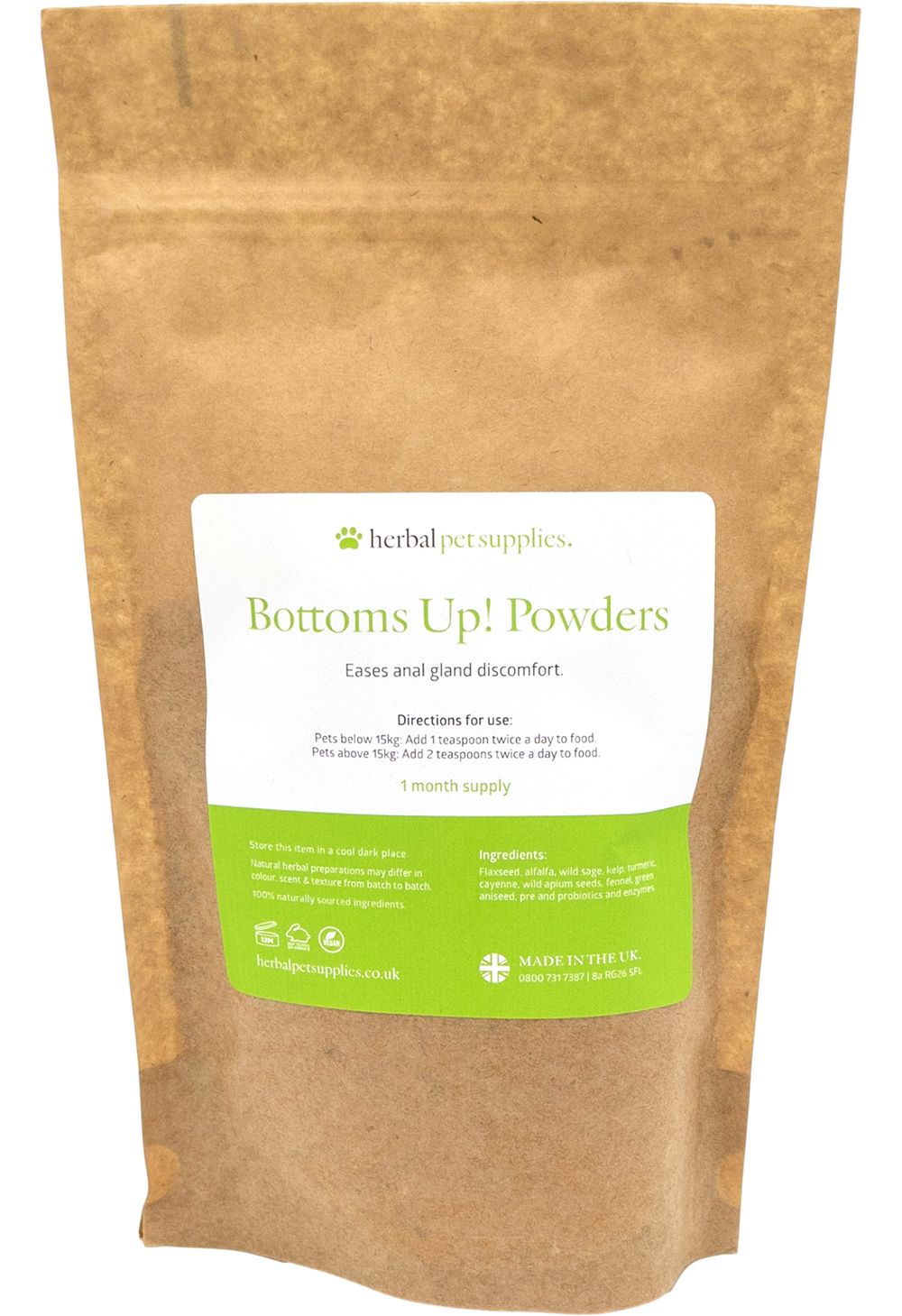 Bottoms Up! Powders