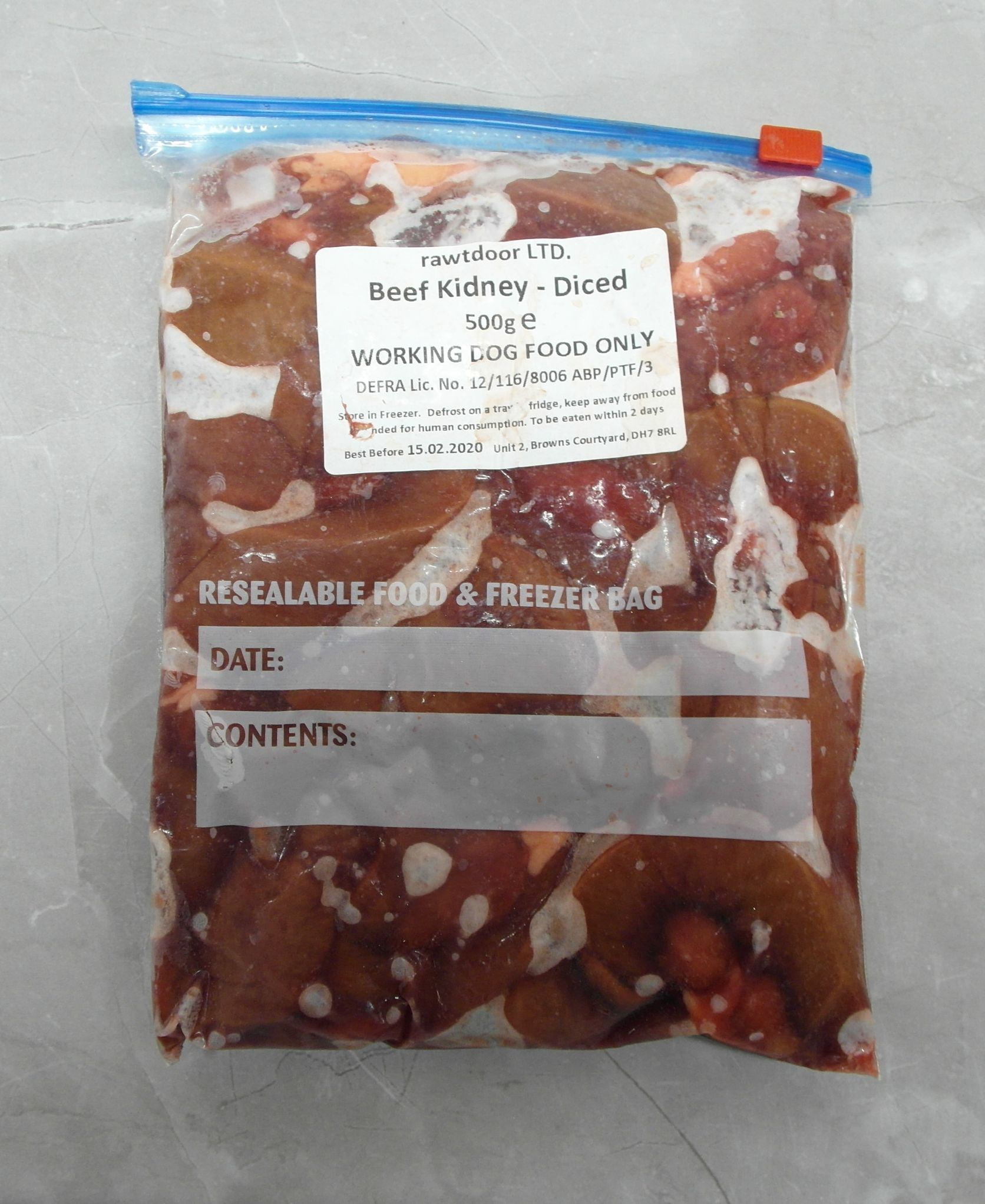 Rtd Beef Kidney Diced