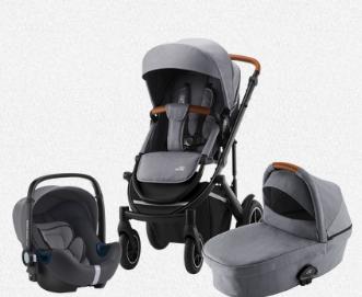 Britax SMILE III - Comfort Bundle (Sportwagen & Kinderwagenaufsatz + BABY-SAFE i-Size SMILE)