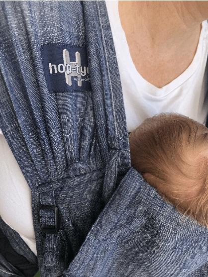HOPPEDIZ® HOP-TYE® Buckle Babytrage 2-20kg - Denim Design