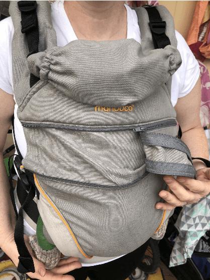 manduca® XT Cotton Babytrage 3,5-20kg - Cotton grey-orange Design