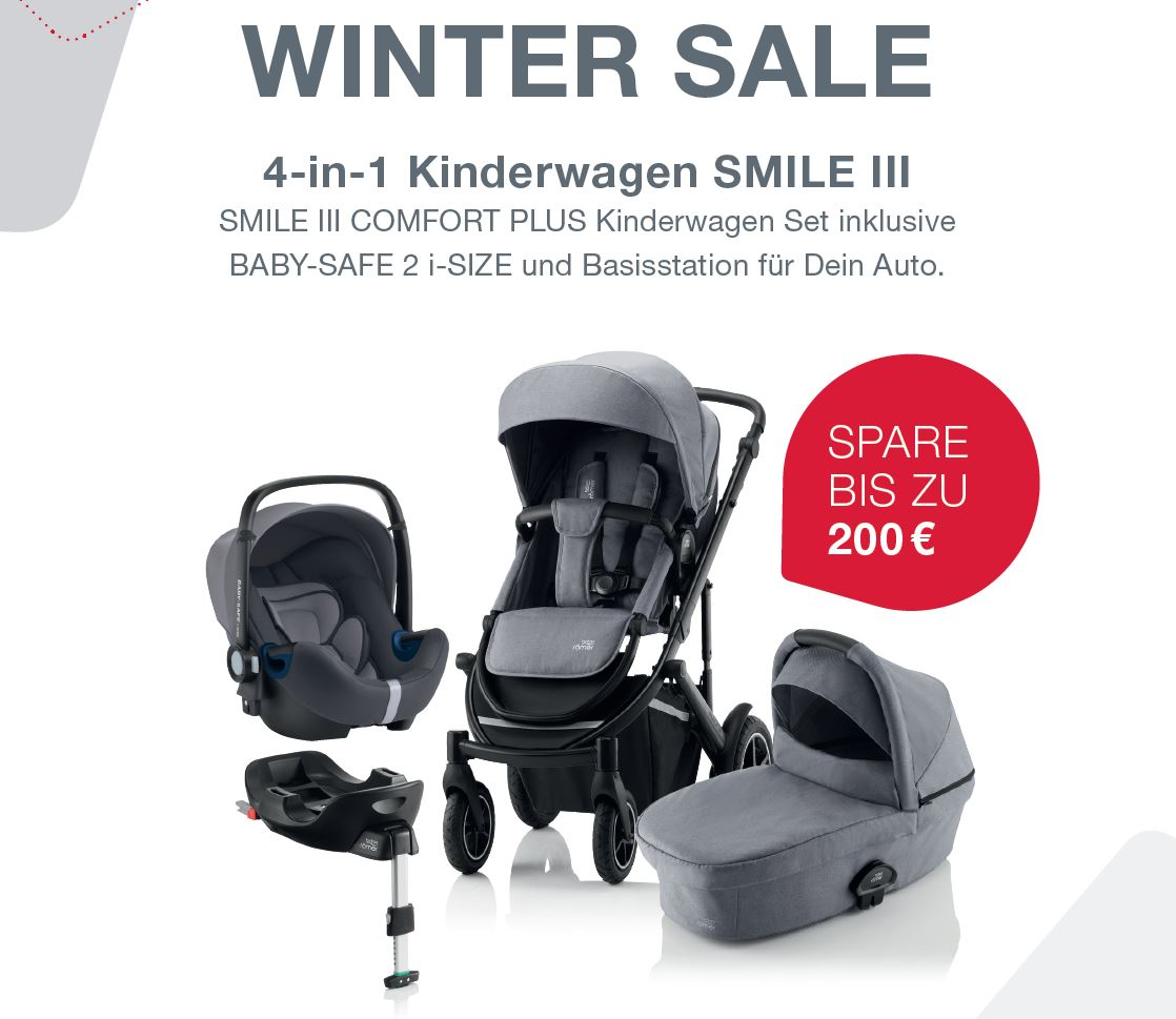 BRITAX SMILE III Comfort Plus Bundle (Sportwagen & Kinderwagenaufsatz + BABY-SAFE i-Size SMILE + FLEX BASE)