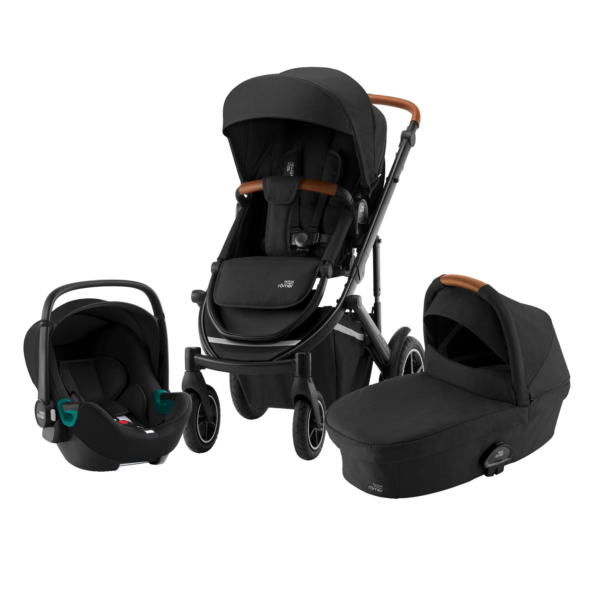 Britax SMILE III Comfort Bundle (Sportwagen + Kinderwagenaufsatz + BABY-SAFE 3 i-Size SMILE)