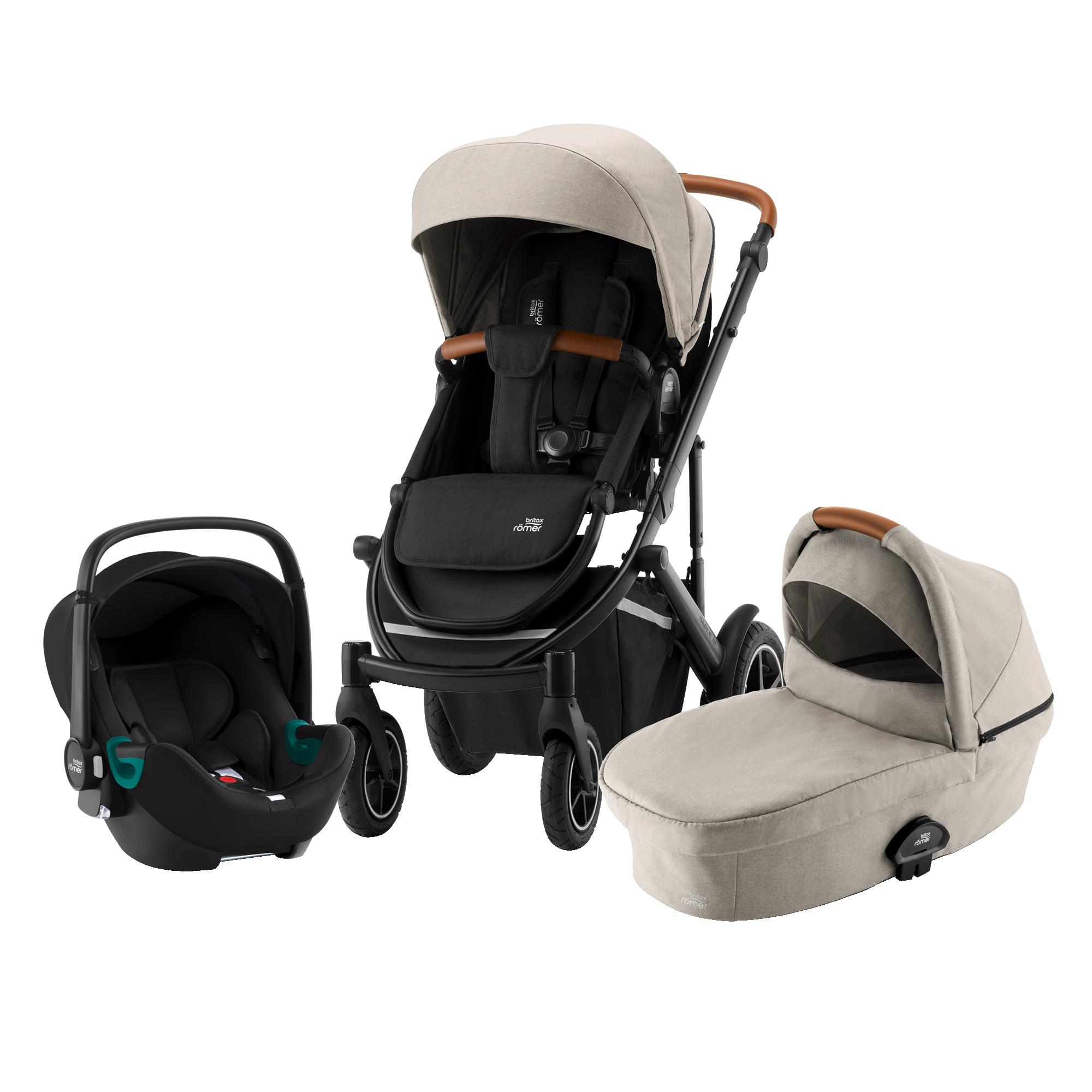 Britax SMILE III Comfort iSENSE Bundle (Sportwagen + Kinderwagenaufsatz + BABY-SAFE iSENSE SMILE)