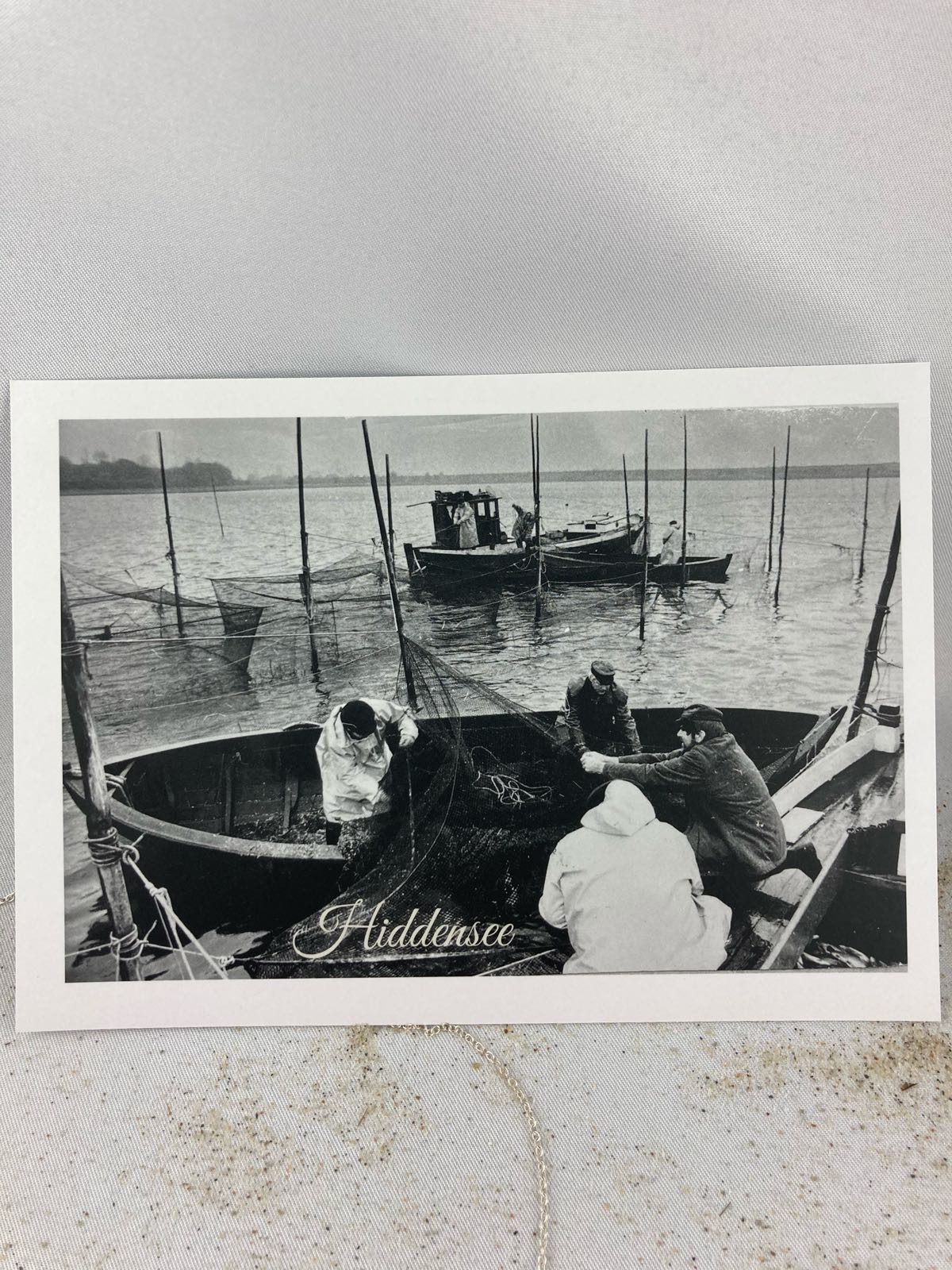 Fischereidesign - Postkarte Hiddensee