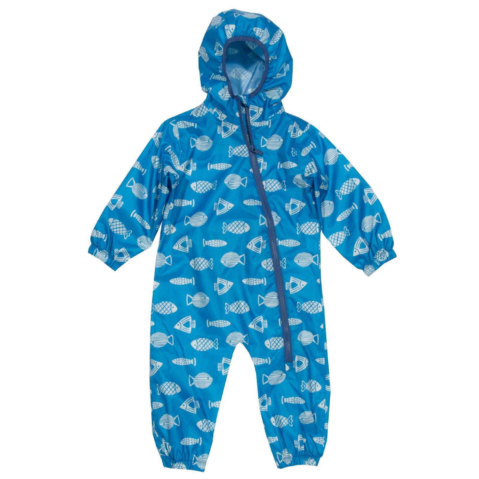 Kite Puddlepack Suit, Blue Fish