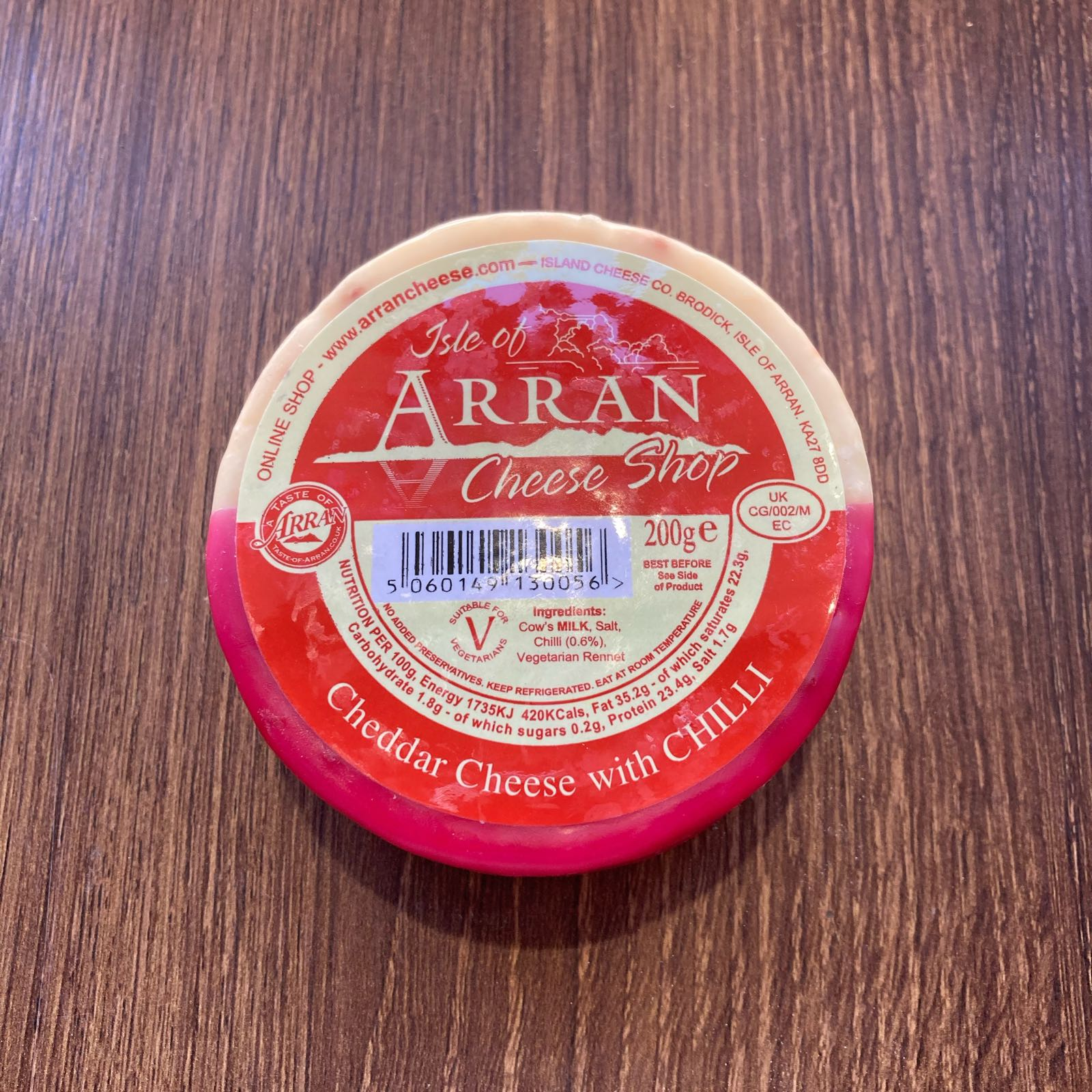 Chilli Arran Waxed Cheese