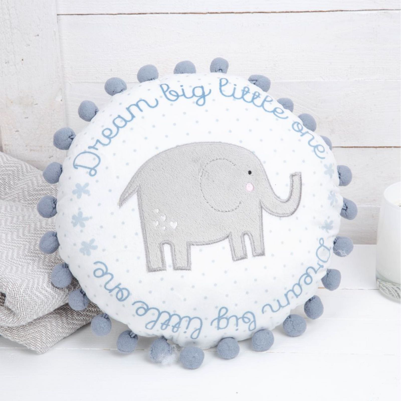 Petit Cheri Round Blue Baby Cushion