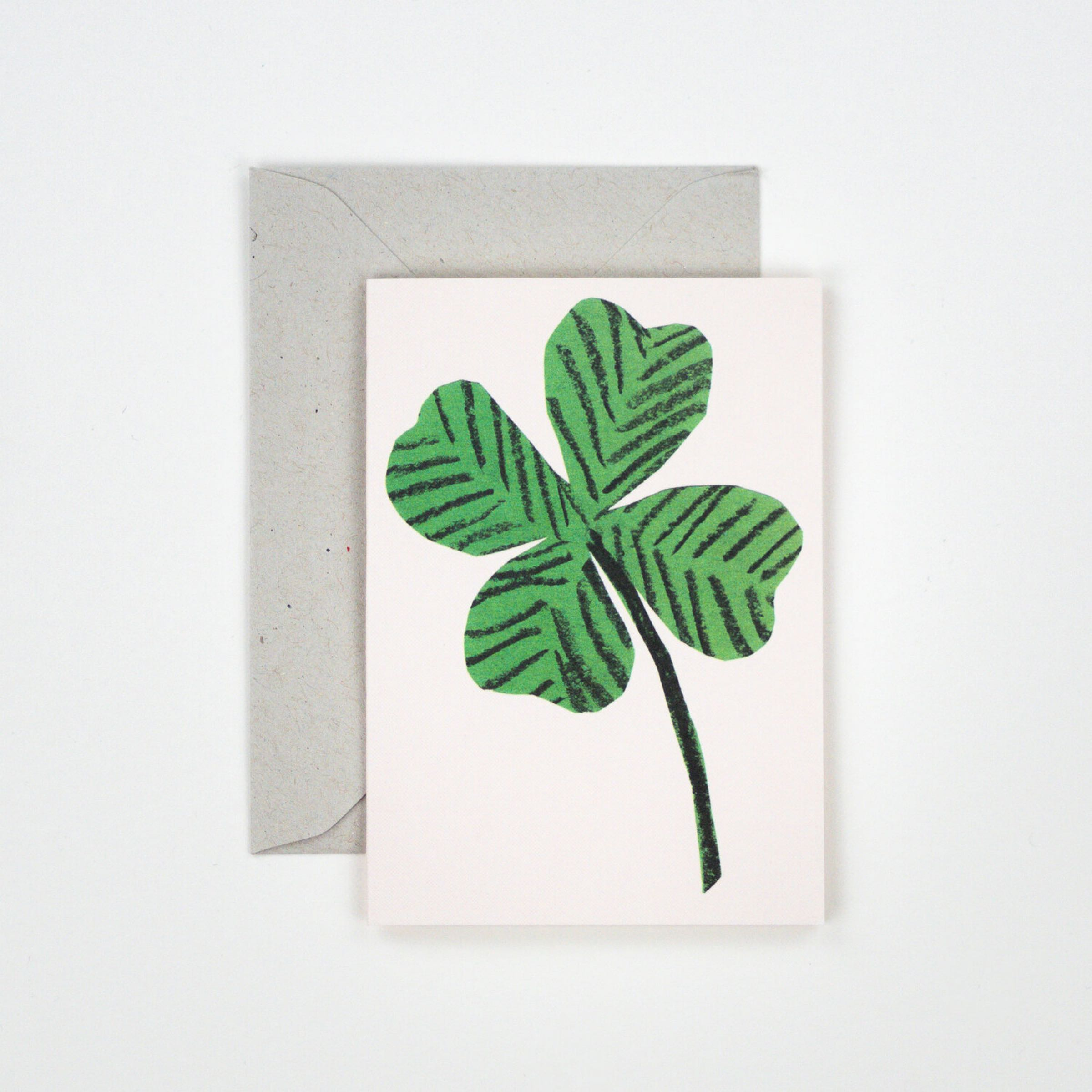 Four Leaf Clover card by Hadley Paper Goods