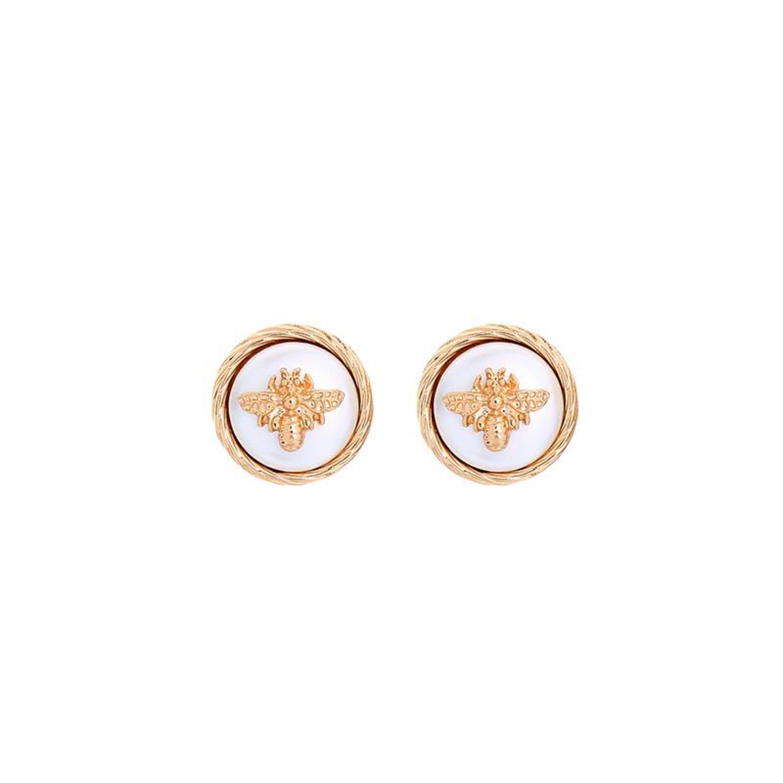 Last true angel circular bee earrings