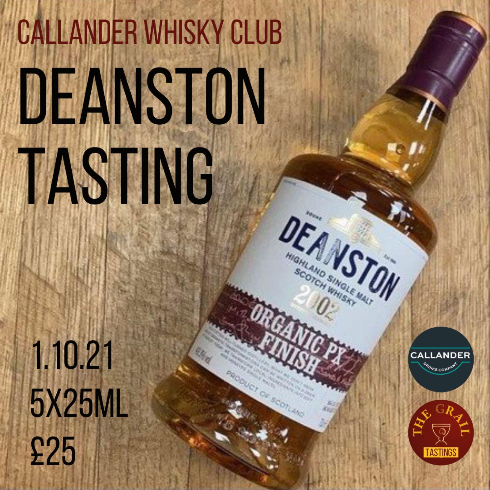Deanston Whisky Tasting 1.10.21