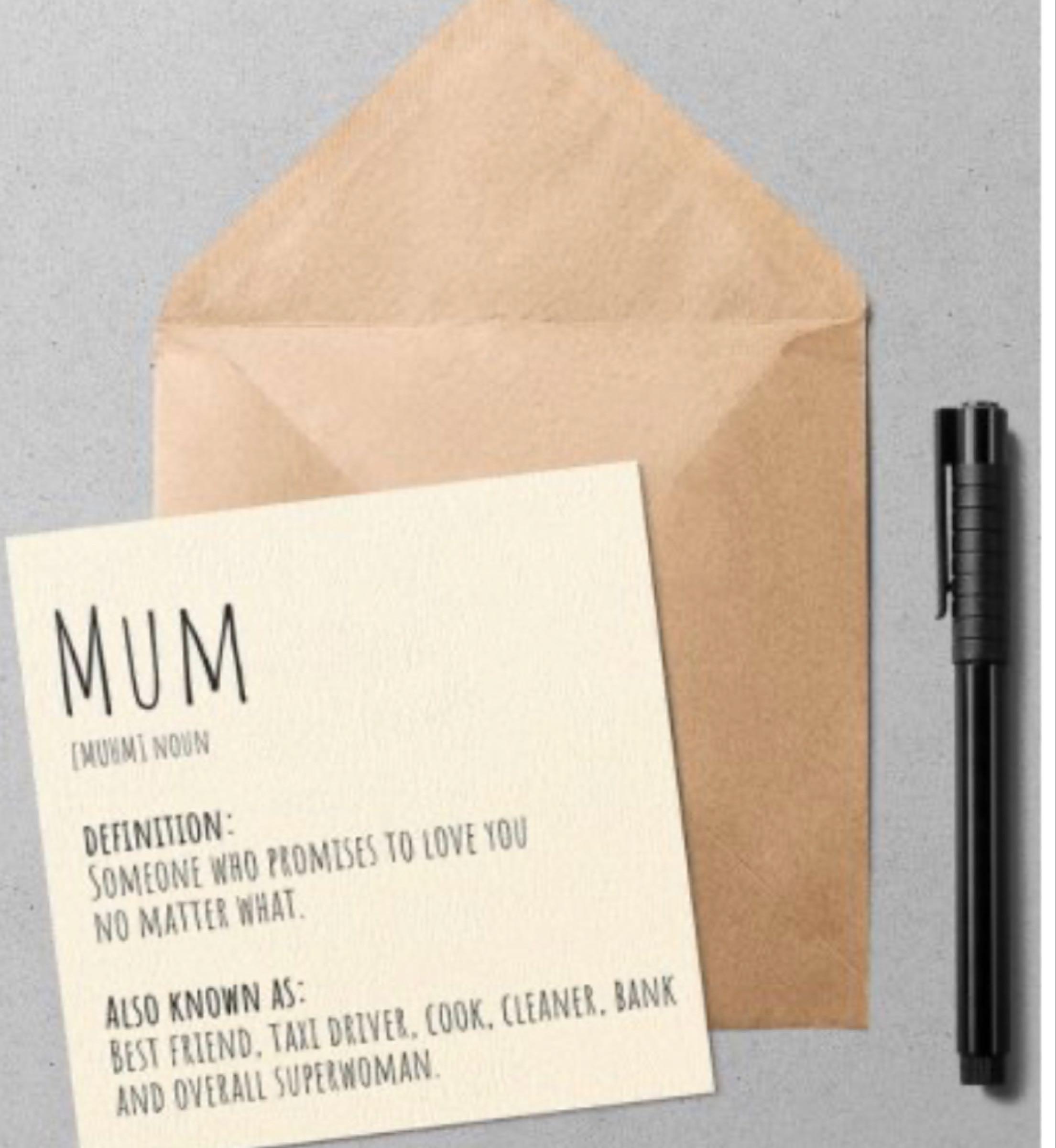 Define Mum card