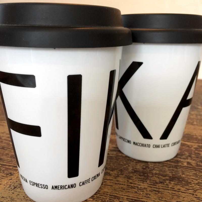 "coffee-to-go-becher ""fika"", porzellan, ca 15 cm hoch, i love design"