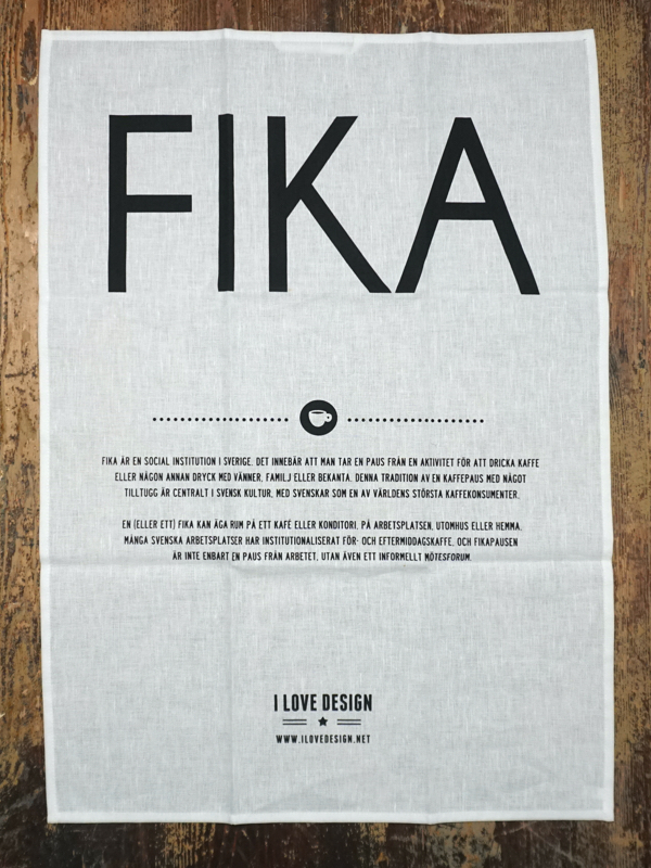 """geschirrtuch """"fika"""", 50 % leinen, 50 % baumwolle, 50 x 70 cm, i love design"""