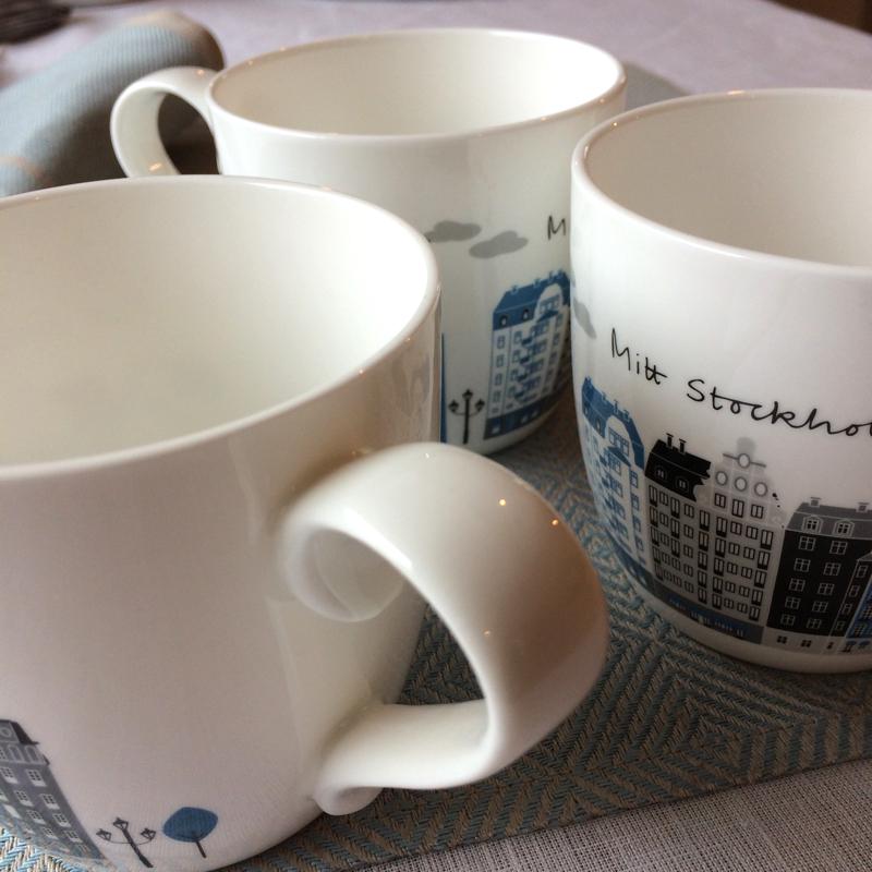"""kaffee-/teebecher """"stadt, land"""", porzellan, ca. 12 cm hoch, emelie ek"""