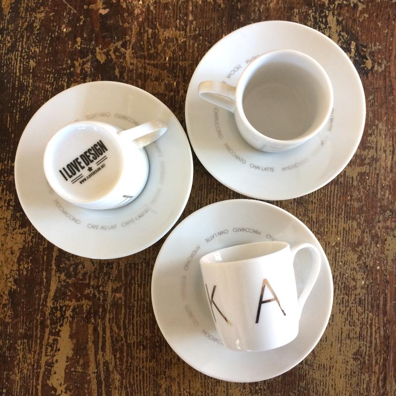 """espressotasse mit untertasse """"fika"""", porzellan, ca 6 cm hoch, i love design"""