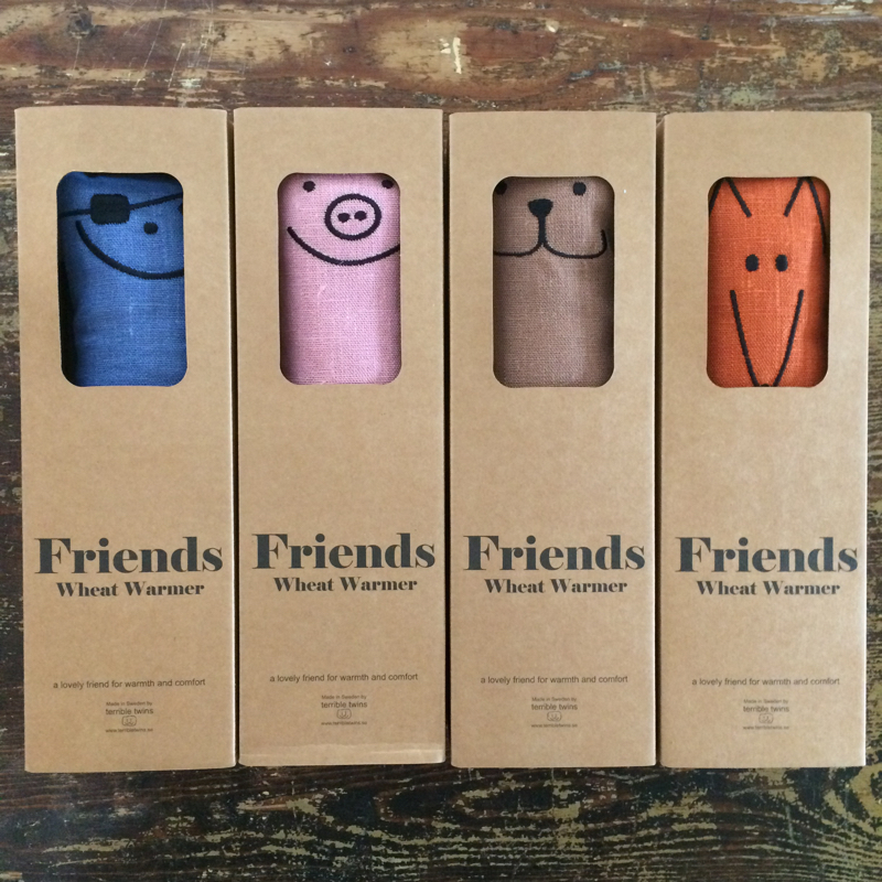 """wärmekissen """"friends"""", 100 % bioweizen, 100% leinen, terrible twins"""