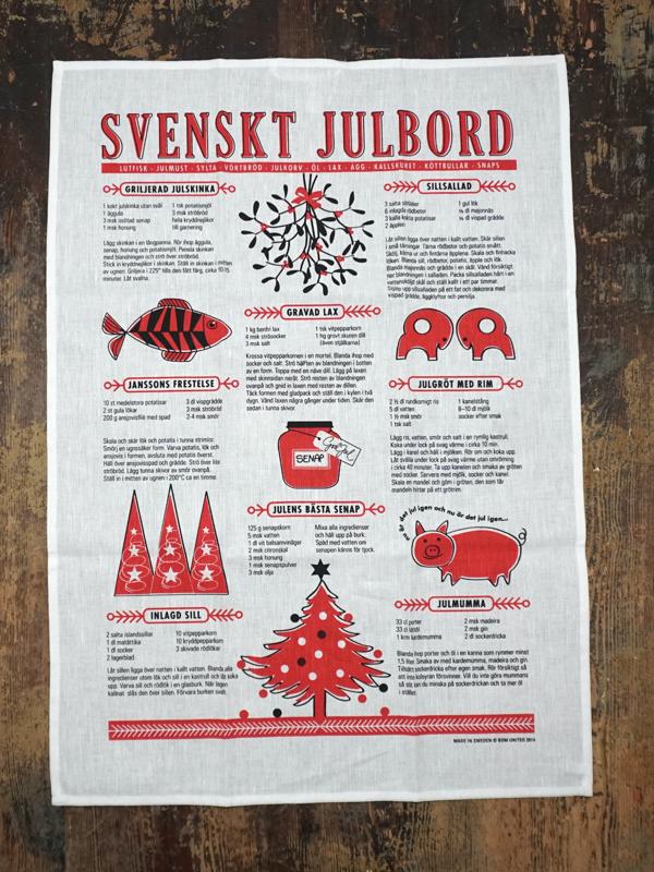 """geschirrtuch """"echt schwedisch"""", 50 % leinen, 50 % baumwolle, 50 x 70 cm, BoM united"""