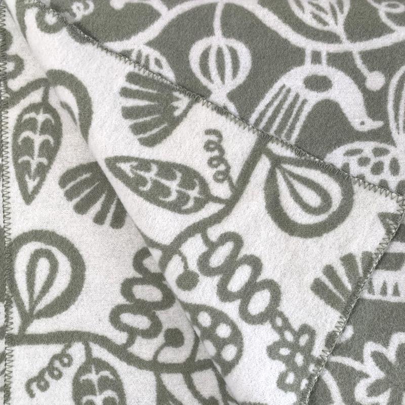 """decke """"botanical"""", 100 % lammwolle, 130 x 140 cm, klippan yllefabrik"""