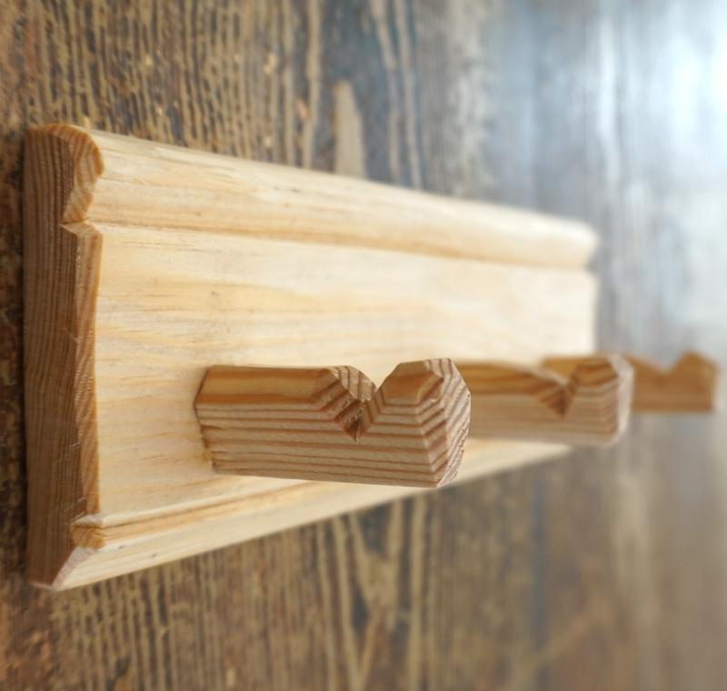 "hakenleiste ""tradition"", birkenholz, 3 haken, 19 cm, dietrich staemmler"