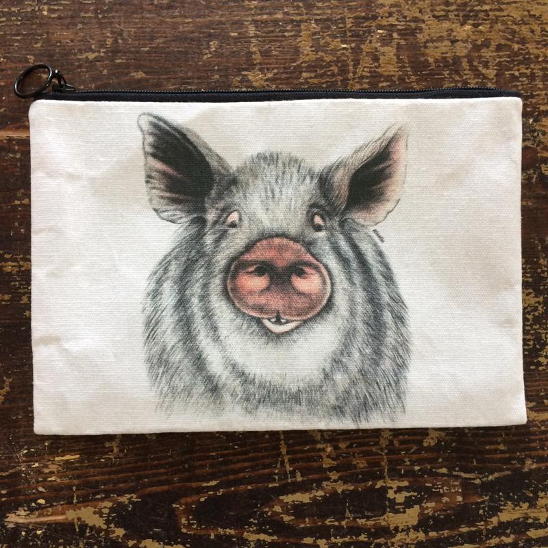 """täschchen """"tiere"""", 100 % baumwolle, 15 x 22 cm, charlotte nicotine"""