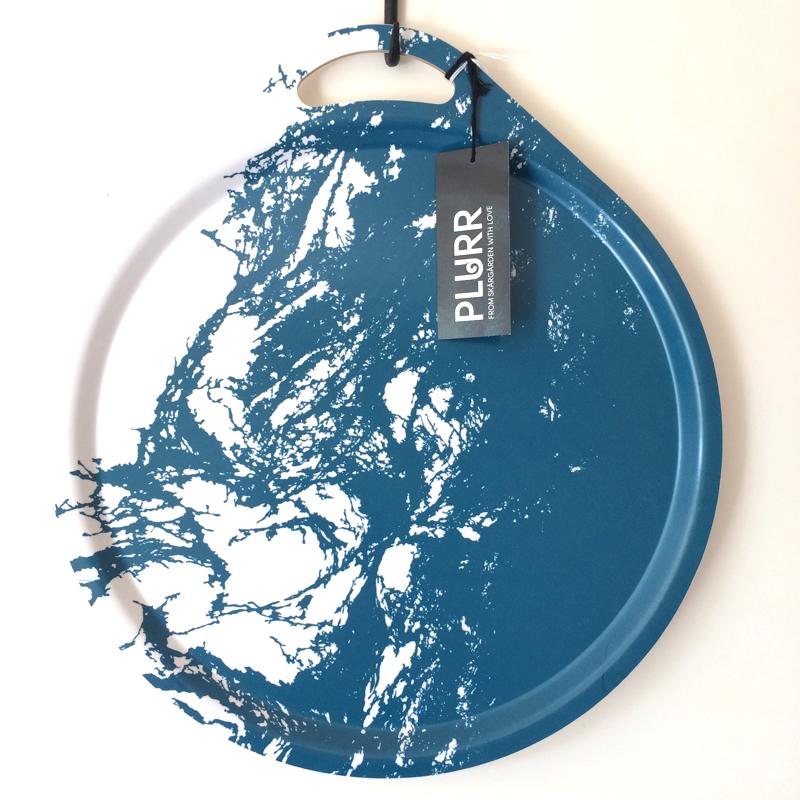 "tablett ""archipelago"", formgepresstes holz mit laminatbeschichtung, Ø ca. 38 cm, plurr"