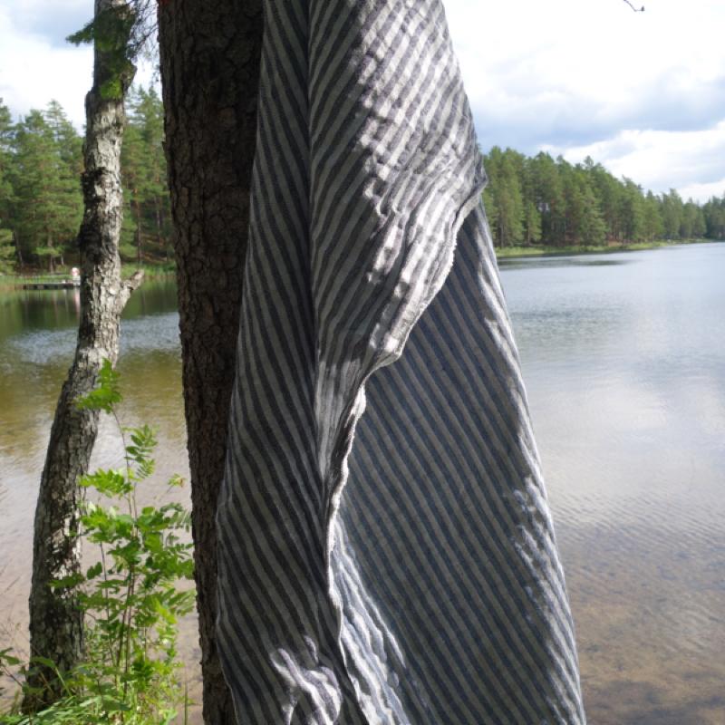 "badetuch ""storm"", 100 % leinen, 90 x 150 cm, växbo lin"