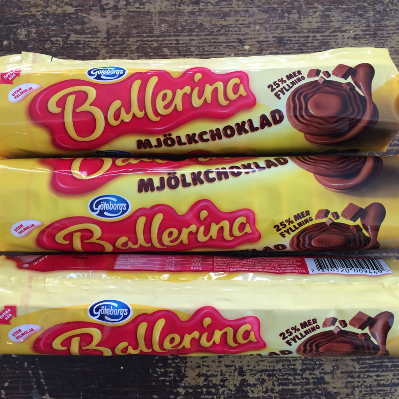 "kekse ""ballerina mjölkchoklad"", 205 g, göteborgskex"