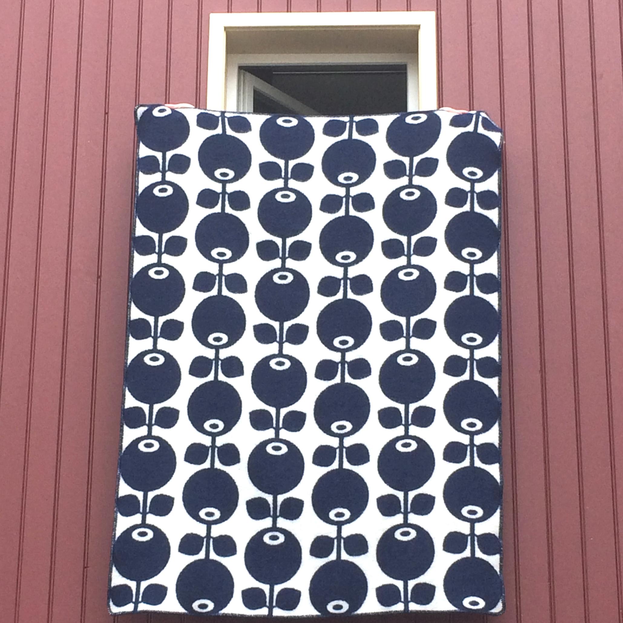 """decke """"blaubeere"""", 100 % wolle, 130 x 180 cm, floryd"""